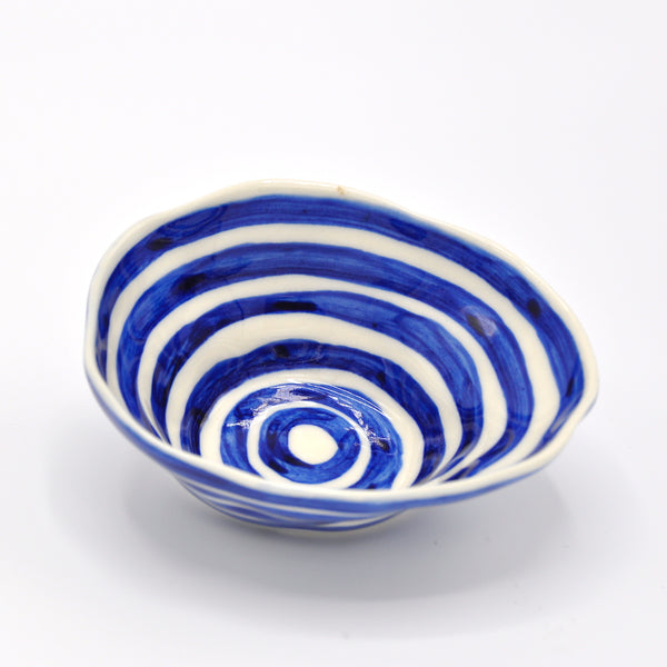 Blue Circles Medium Bowl
