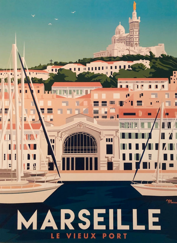 Marseille Travel Print
