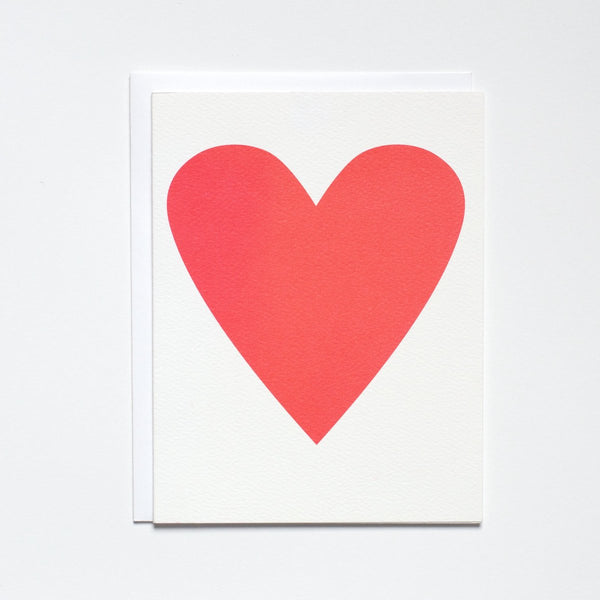 Neon Pink Heart Greeting Card