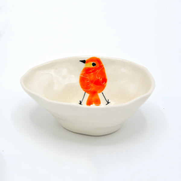 Orange Bird Medium Bowl