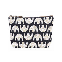 Black Print Canvas Pouch