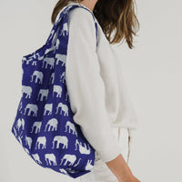 Reusable Blue Elephant Tote