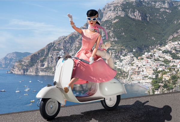 Scootering in Positano Barbie Photograph