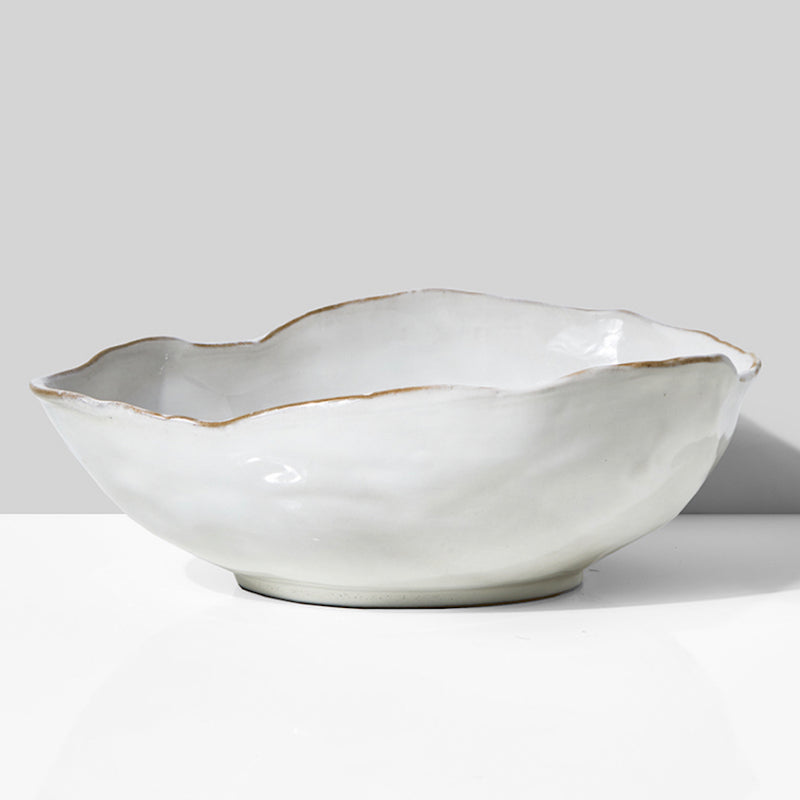 White Salad Bowl
