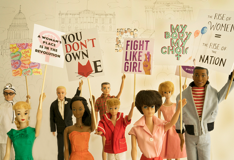 Women's March 2017 Barbie Photograph