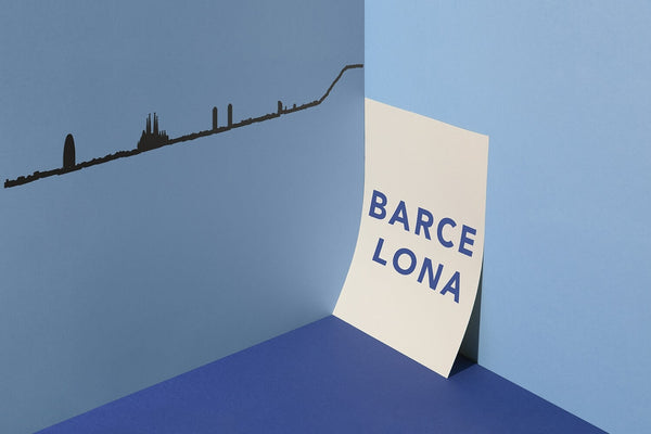 Barcelona Skyline Wall Art
