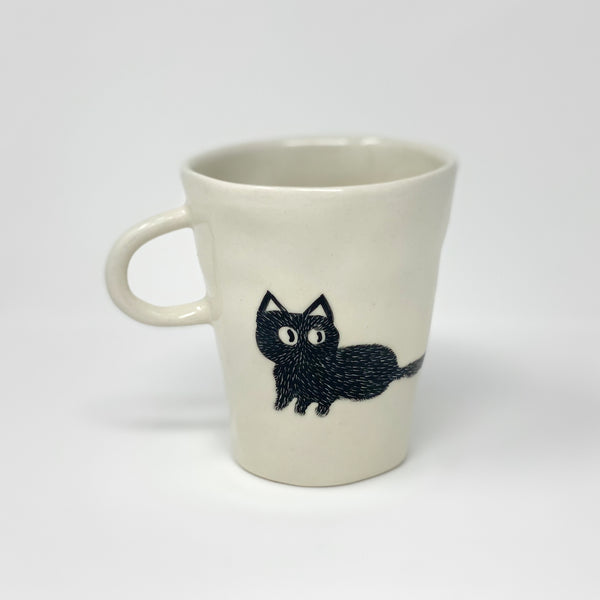 Black Cat Teacup