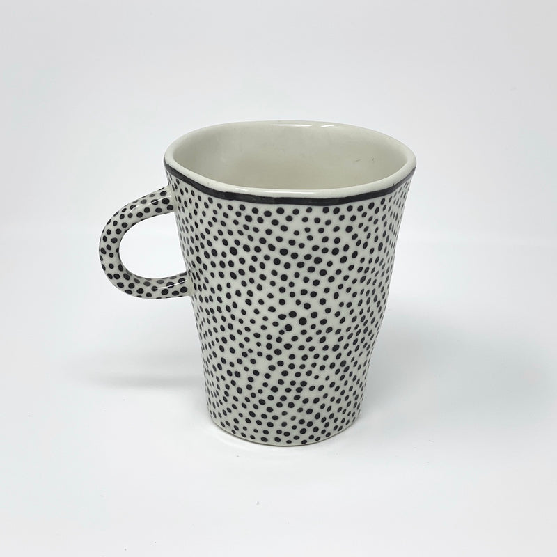 Black Dot Teacup