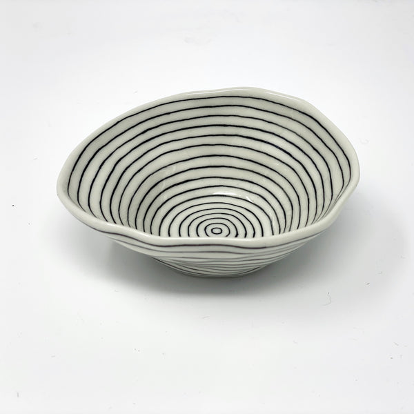 Black Lines Medium Bowl