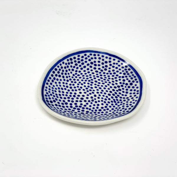 Blue Dot Mini Plate