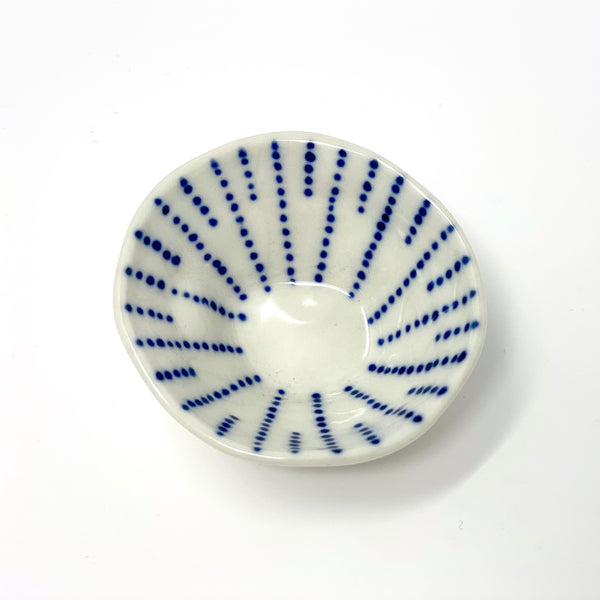Blue Dotted Lines Mini Bowl