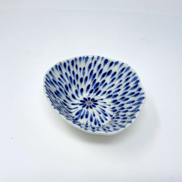 Blue Drops Medium Bowl