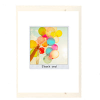 Thank You Balloons Greeting Card