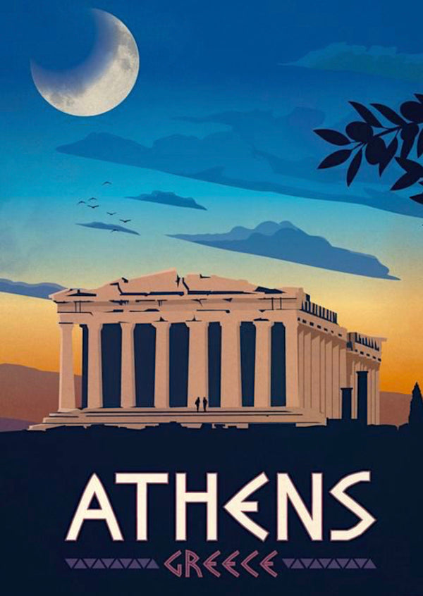 Athens Travel Print