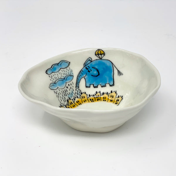 Elephant Raining Medium Bowl
