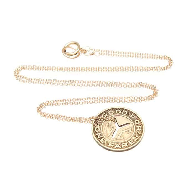 Subway Token Vintage NYC Short Necklace