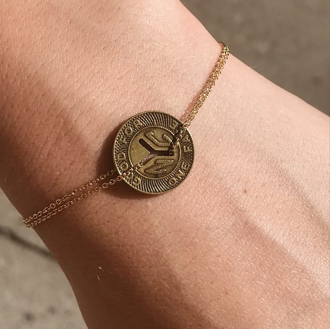Subway Token Vintage NYC Bracelet