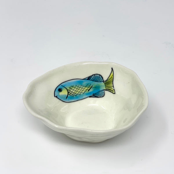Swimming Blue Fish Medium Bowl