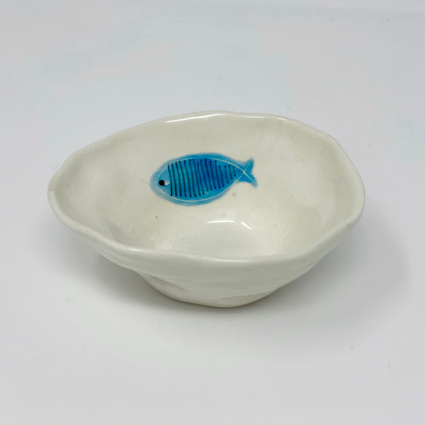 Turquoise Fish Medium Bowl