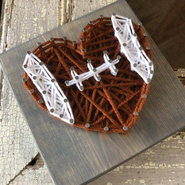 Strung by Shawna - Football Heart Mini String Art Kit - DIY