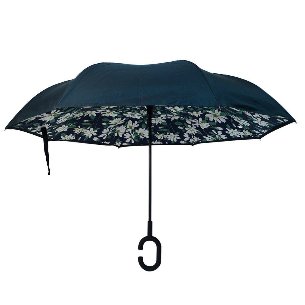 Selini New York - Daisy Flower Double Layer Inverted Umbrella