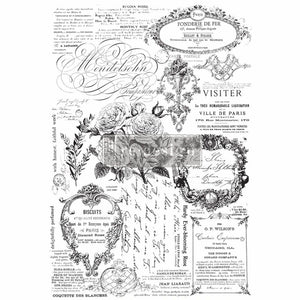 "Redesign with Prima Transfer - Paris Valley 35"" x 34.2"" Redesign Decor Transfer - Rub on decal"