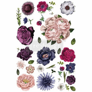 "Redesign with Prima Transfer - Lush Floral II 48"" x 32"