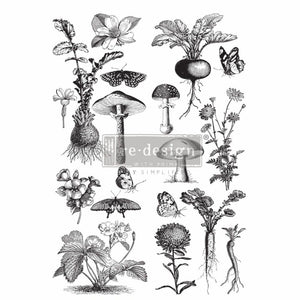 "Redesign with Prima Transfer - Fungi Forest 24"" x 35.3"" Redesign Decor Transfer Rub on Decal"