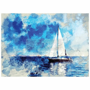 "Redesign with Prima Transfer - On A Voyage 26"" x 36"
