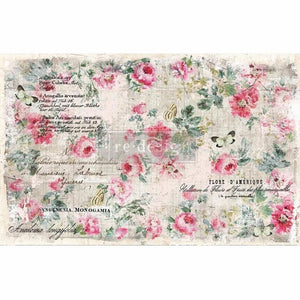"Floral Wallpaper - 19"" x 30"" Decoupage Decor Tissue - Redesign with Prima"