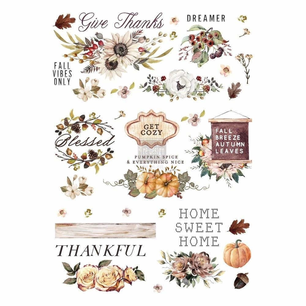 Redesign with Prima Transfer - Thankful Autumn 24