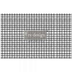 "Grid - 19"" x 30"" Decoupage Decor Tissue Paper - Redesign With Prima"