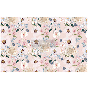 "BLUSH FLORAL - Decoupage Decor Tissue 19"" x 30"" - Redesign With Prima One Sheet"