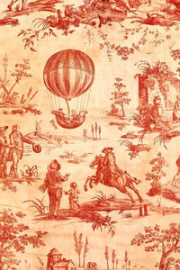 "Red Toile 20"" x 30"" - Roycycled Treasures Decoupage Tissue Papers"