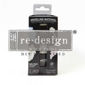 Redesign with Prima Transfer - MODELING MATERIAL JAR, SET OF 2 /BOX. 3.5 OZ. EACH.