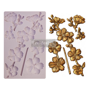 "ReDesign Decor Mould - Botanical Blossoms  5"" x 8"""