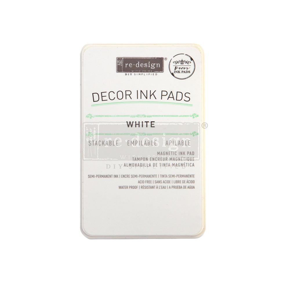 REDESIGN DECOR INK PAD – WHITE – MAGNETIC INK PAD