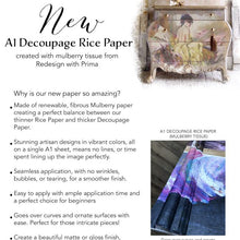 Load image into Gallery viewer, REDESIGN A1 DECOUPAGE RICE PAPER (MULBERRY TISSUE PAPER) – PEACEFUL  23.4″X33.1″