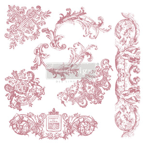 CHATEAU DE MAISONS – 12×12 CLEAR CLING REDESIGN DECOR CLEAR-CLING STAMPS –