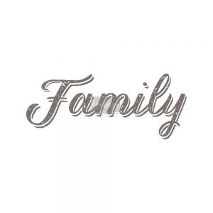 "Family 8"" x 21"" Each Design Redesign with Prima Rub on Decal Decor Transfer"