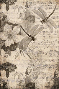 "Musical Dragonflies  20"" x 30"" - Roycycled Treasures Decoupage Tissue Papers"