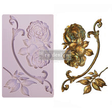 "Load image into Gallery viewer, ReDesign Decor Mould - Victorian Rose 5"" x 8"""