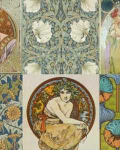 "Art Nouveau Project Blocks 20"" x 30"" Roycycled Treasures Decoupage Tissue Papers -"