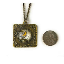 Load image into Gallery viewer, French Bird Vintage Style Square Necklace