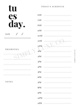 Load image into Gallery viewer, Undated Days Printable Insert Bundle - Monday thru Sunday w/ Weekly Overview - Available in 2 colors