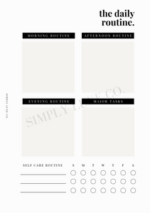 The Daily Routine Printable Inserts - Available in 2 colors