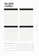 Load image into Gallery viewer, The Daily Routine Printable Inserts - Available in 2 colors
