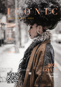 "Iconic Magazine ""Wintry Natural"" Fashion Dashboard"