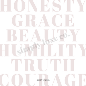 """The Virtues"" Printable Journaling Card (3x3 in.)"