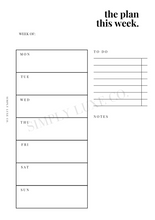 Load image into Gallery viewer, Weekly Undated Printable Inserts - V1 (NEW design)